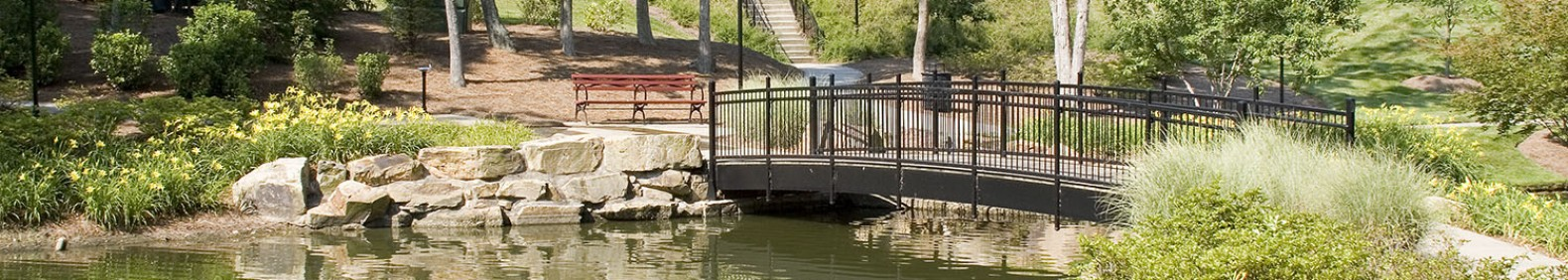 The walking bridge at Cullman Park