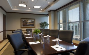 A boardroom at the Ballantyne Business Center