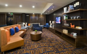 The Charlotte Ballantyne entertainment centre at the Courtyard by Marriott