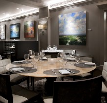 The dining room at the Ballantyne Hotel