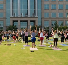 Yoga on the Green at Ballantyne