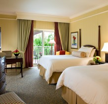 A view into one of the guestrooms at the Ballantyne Hotel