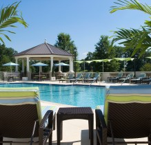 The gorgeous pool at the Ballantyne Hotel